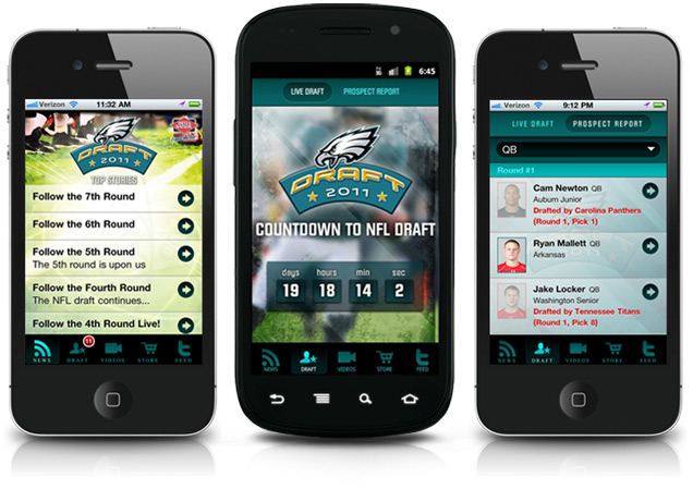 Jarvus Innovations' Philadelphia Eagles app, built with Sencha Touch.
