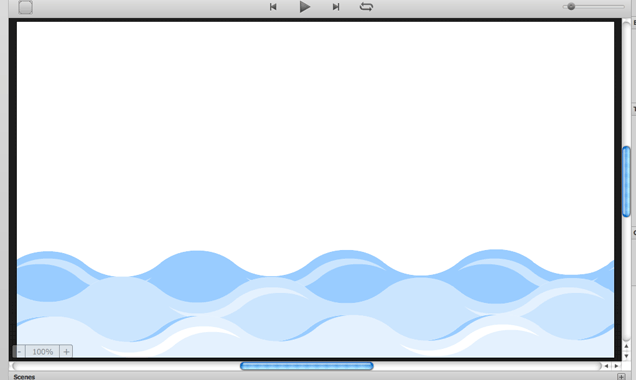 The stage showing place wave images in Sencha Animator.