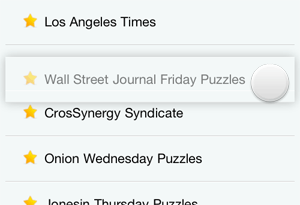 Drag and drop your preferred sources for daily crossword puzzles.