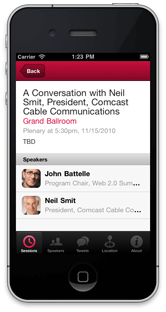 Demo O'Reilly Conference app